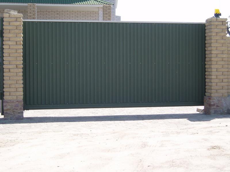 Откатные ворота проект 1