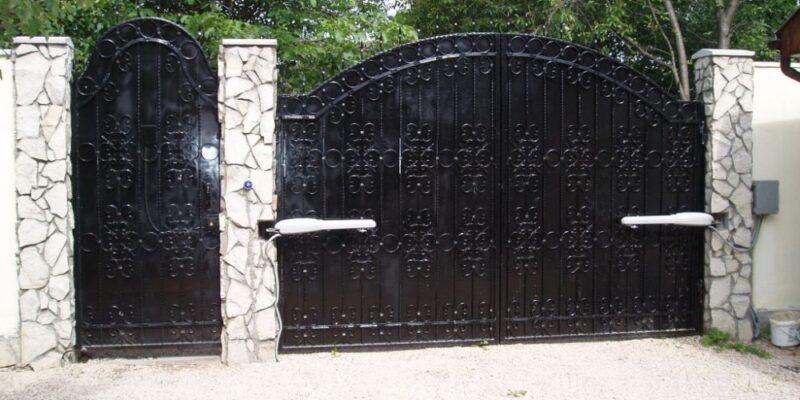 Распашные ворота проект 2