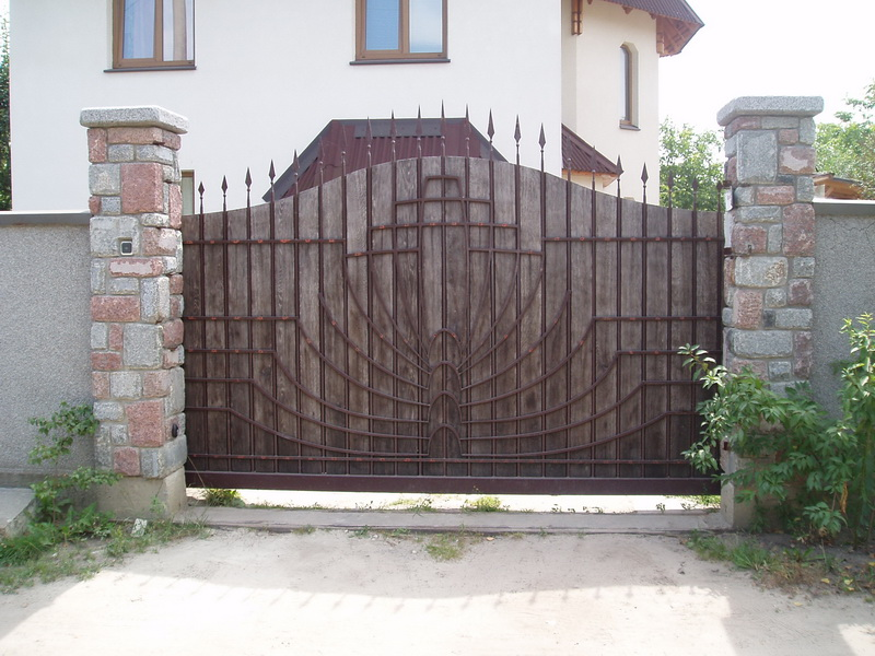 Откатные ворота проект 4