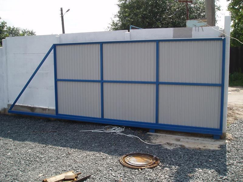 Откатные ворота проект 5