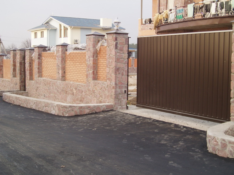 Откатные ворота проект 6
