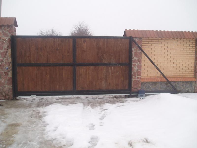 Откатные ворота проект 7