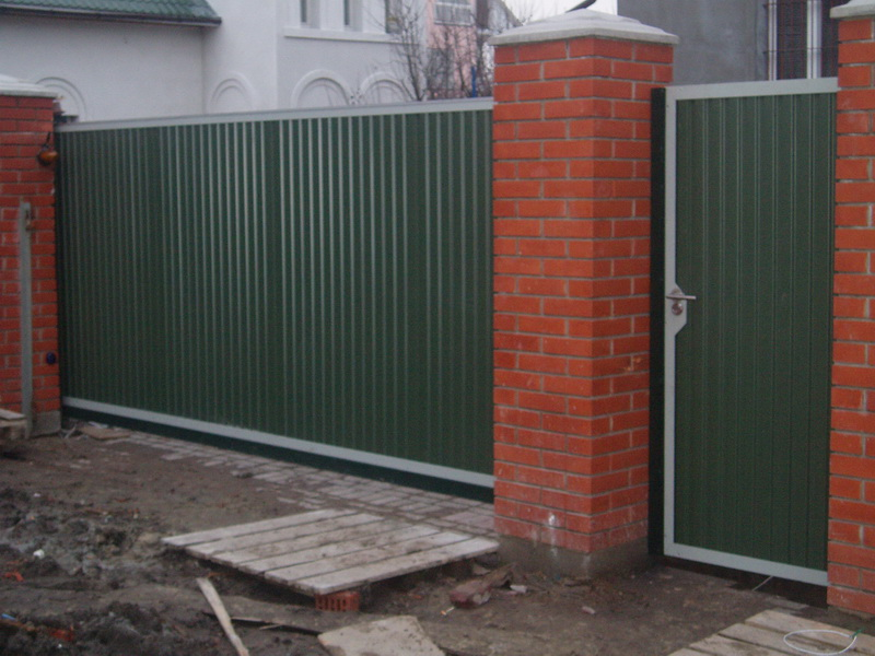 Откатные ворота проект 8