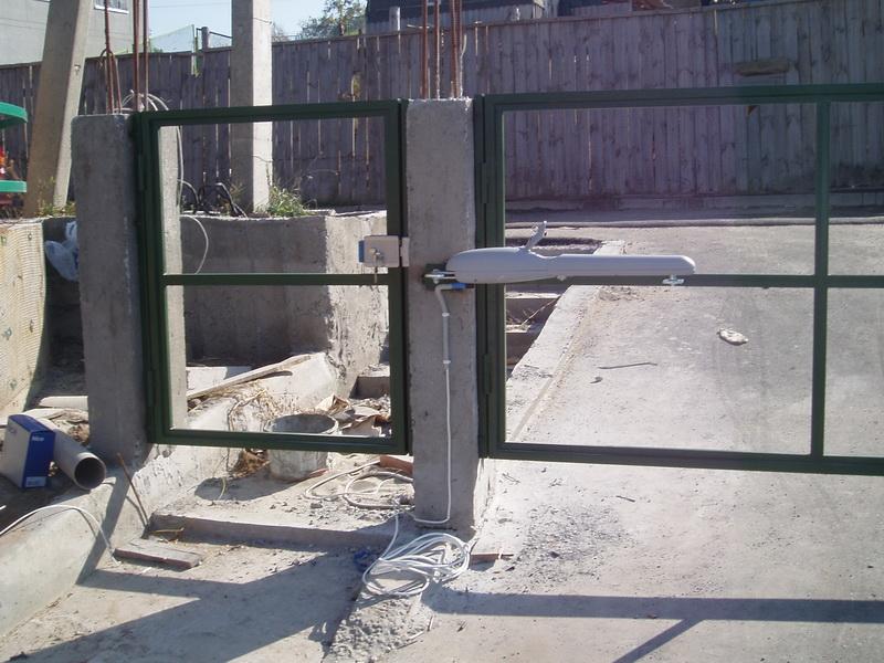 Распашные ворота проект 3