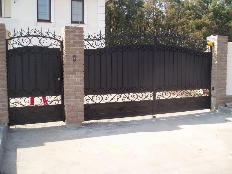 Распашные ворота проект 4