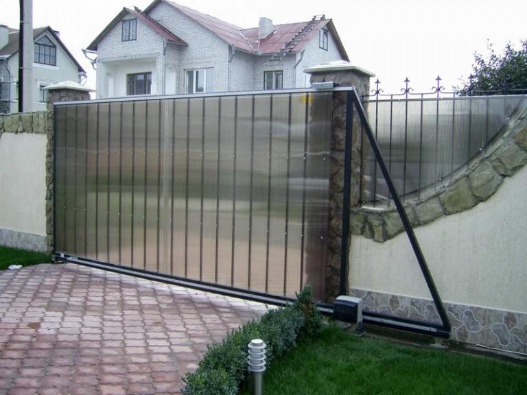 Откатные ворота проект 16