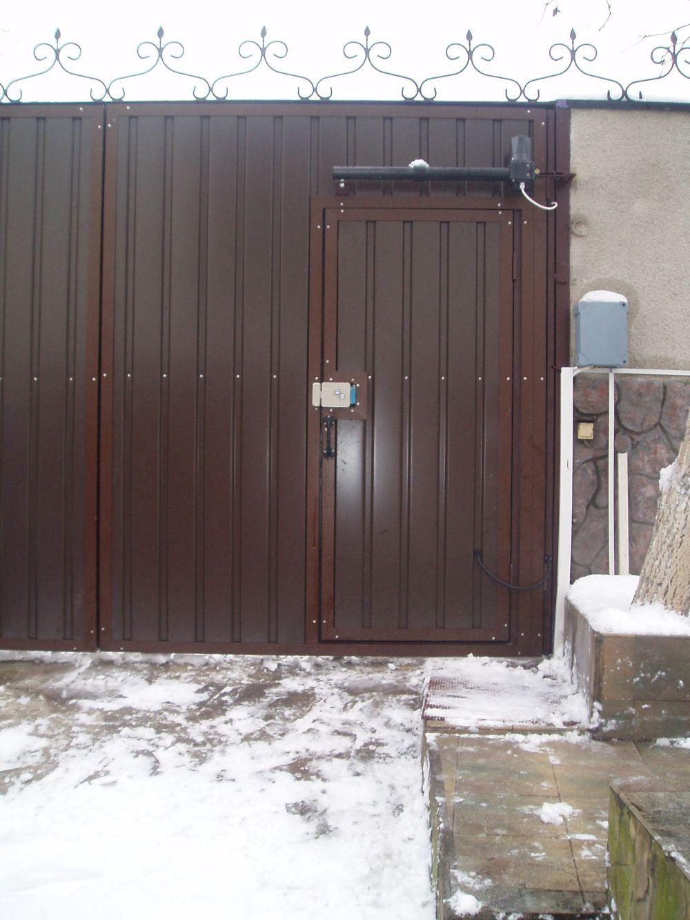 Распашные ворота проект 5