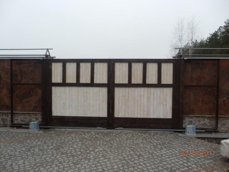 Распашные ворота проект 6
