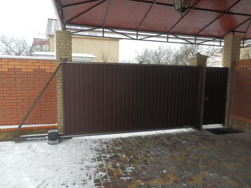 Откатные ворота проект 32