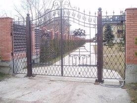Распашные ворота проект 19