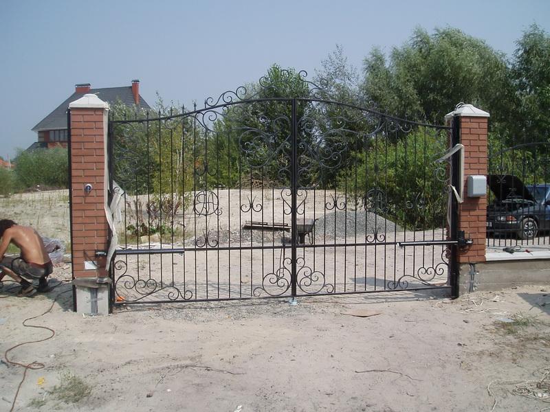 Распашные ворота проект 14