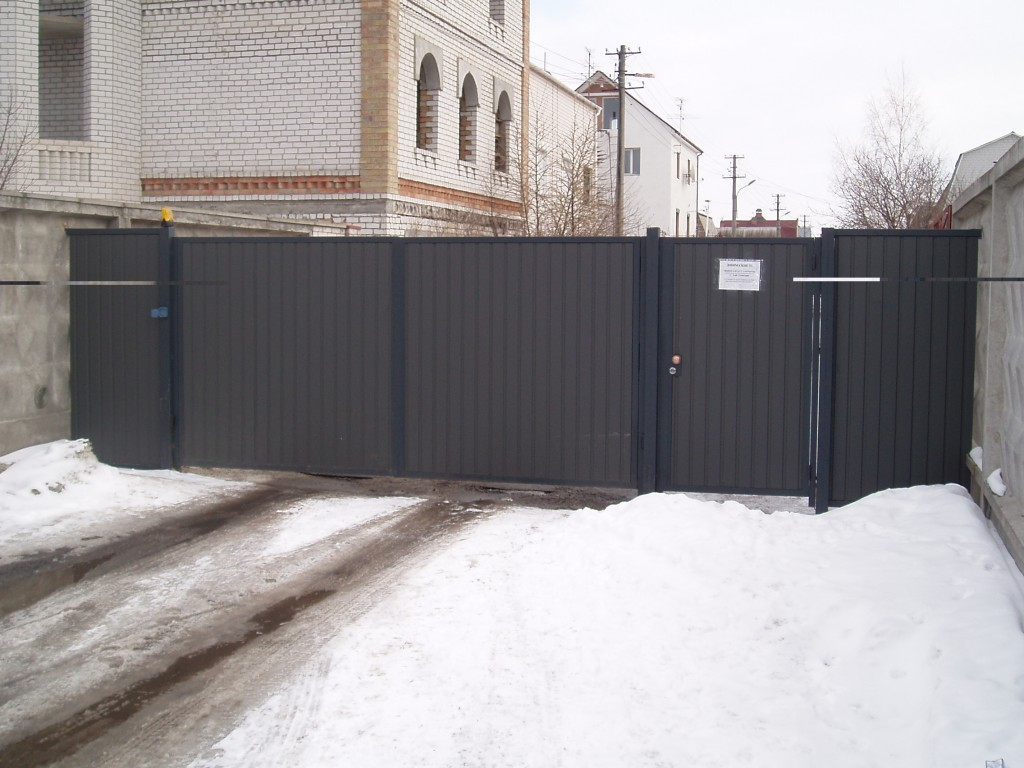 Распашные ворота проект 22