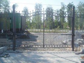 Распашные ворота проект 24