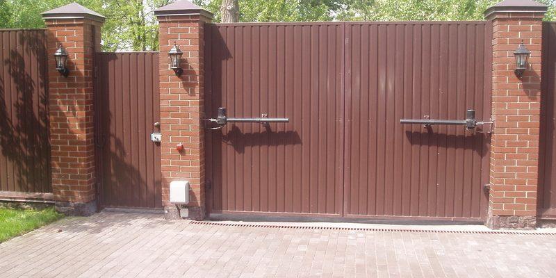 Распашные ворота Киев цена