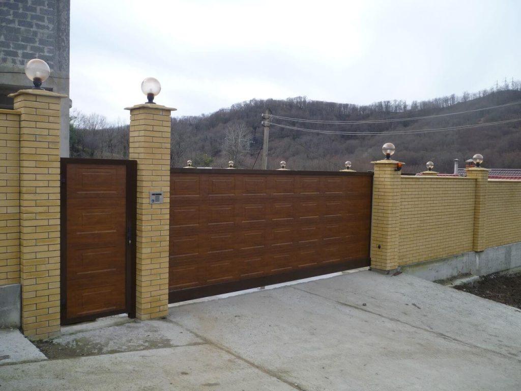 Откатные ворота проект 64