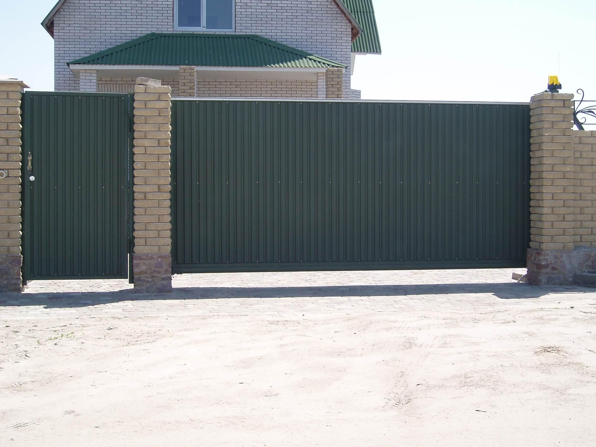 Откатные ворота проект 45