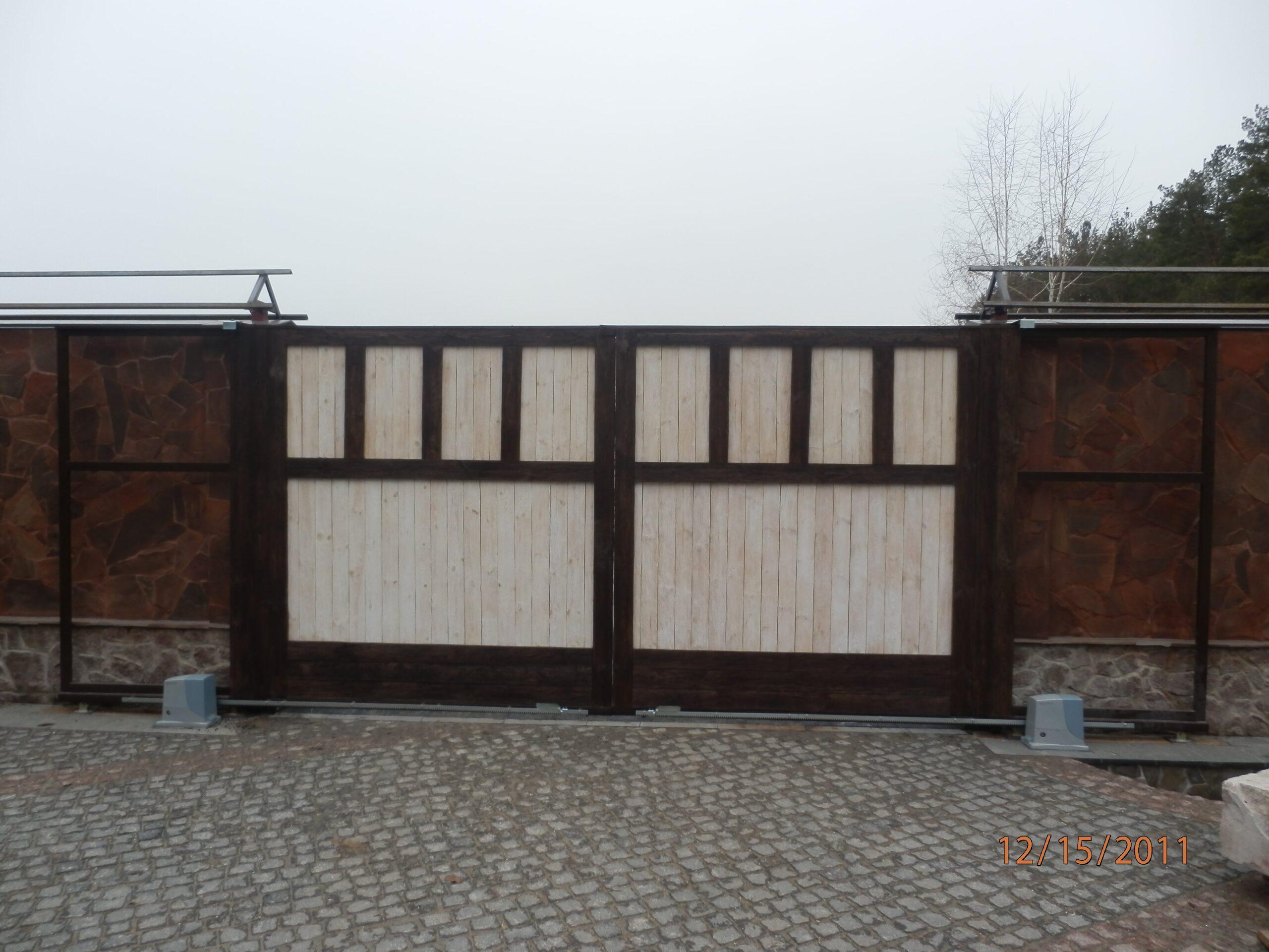 Откатные ворота проект 48