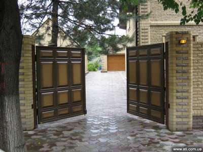 Распашные ворота проект 25