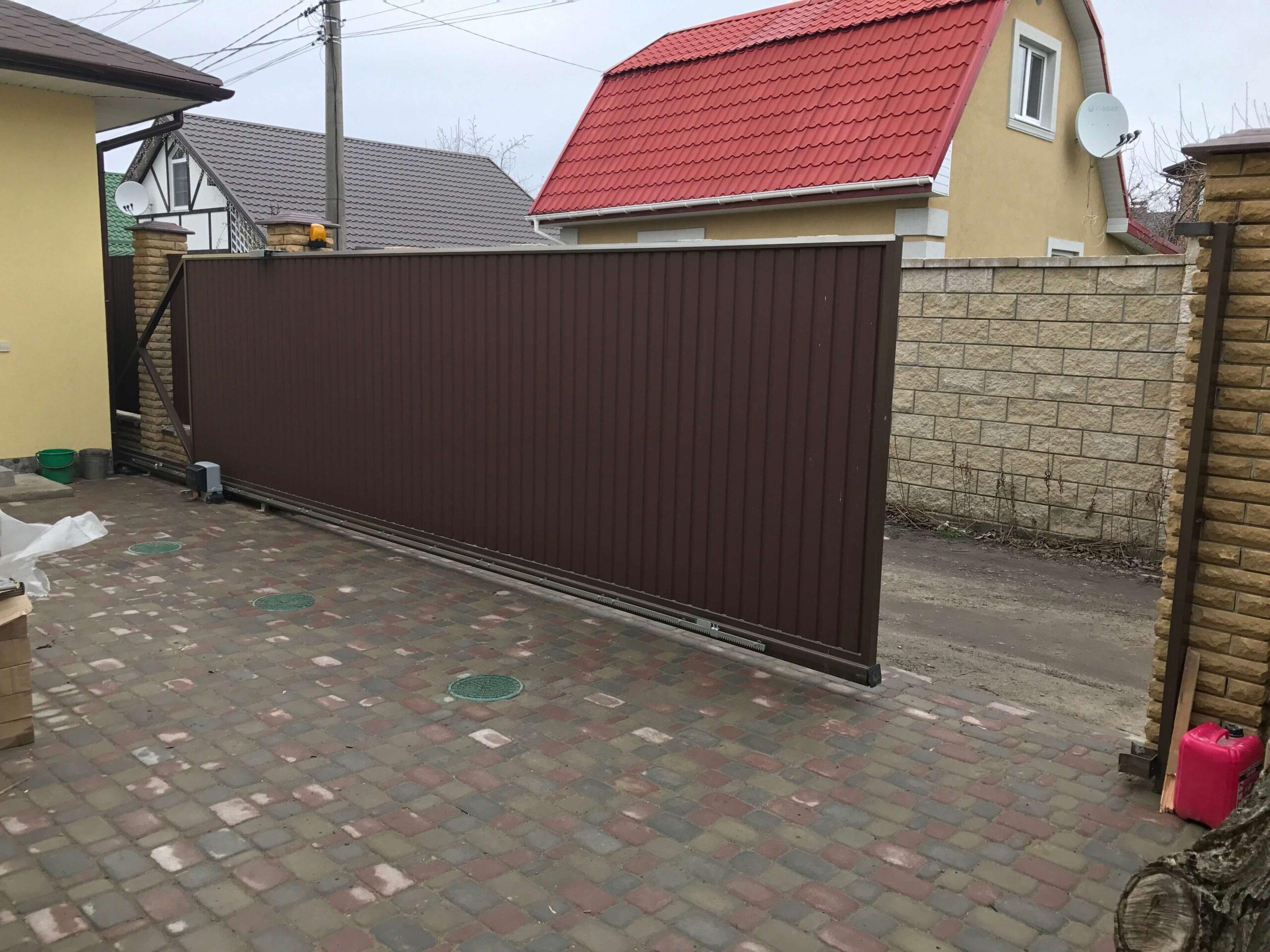 Откатные ворота проект 52