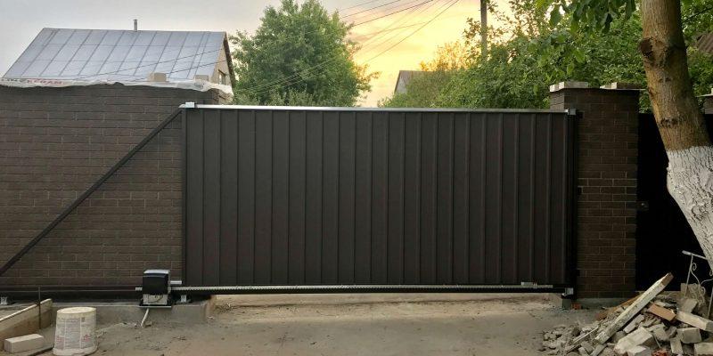 Откатные ворота проект 55