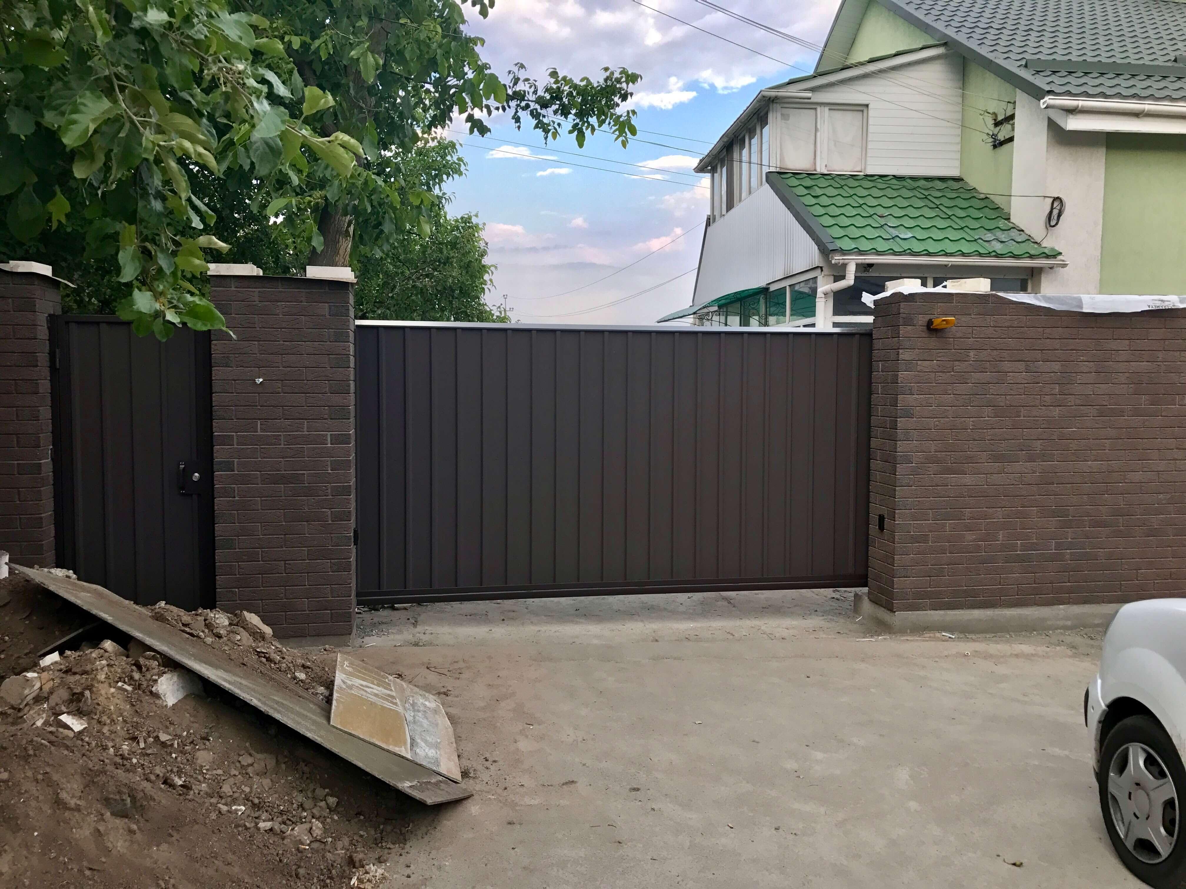 Откатные ворота проект 56