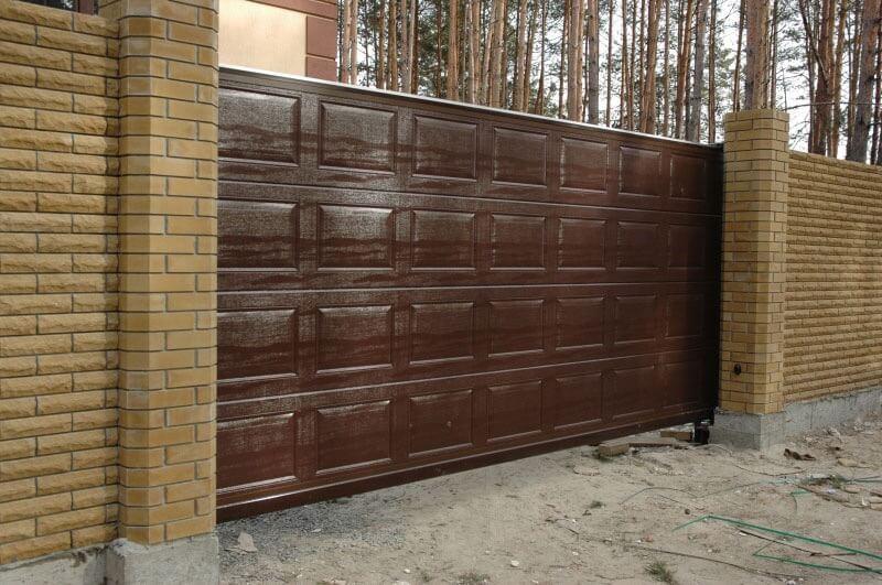 Откатные ворота проект 58