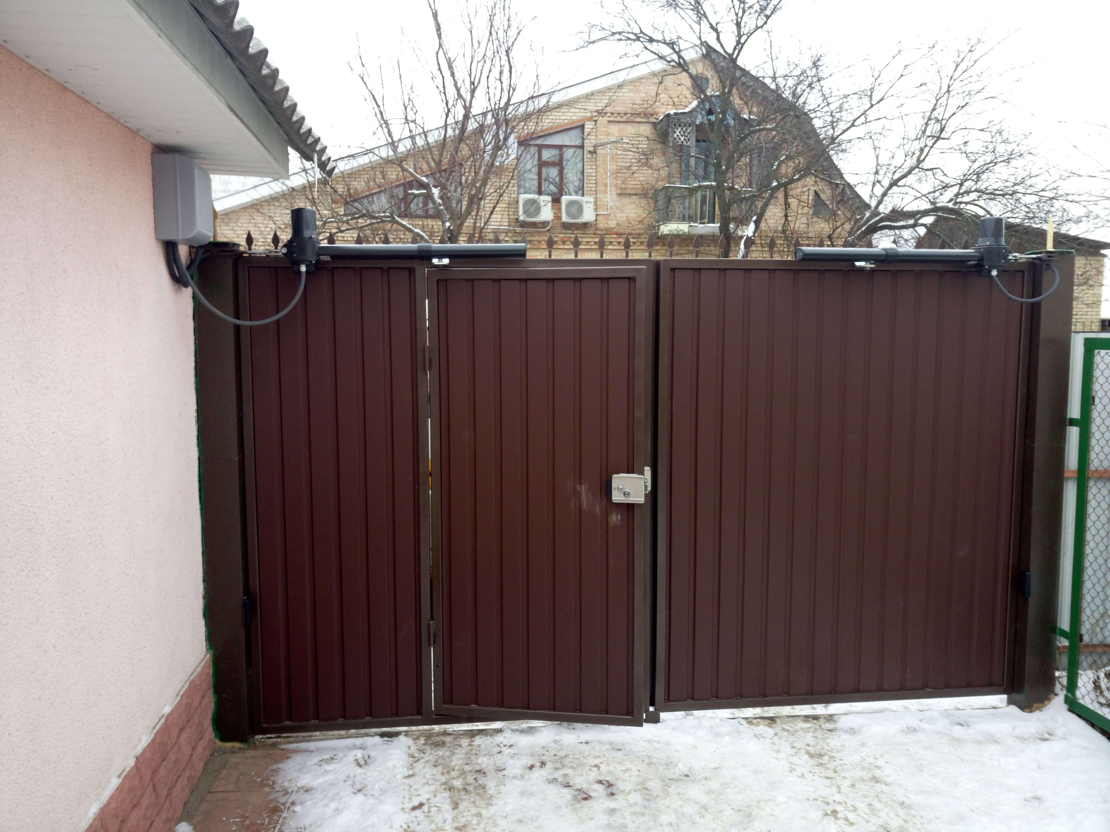 Распашные ворота проект 29