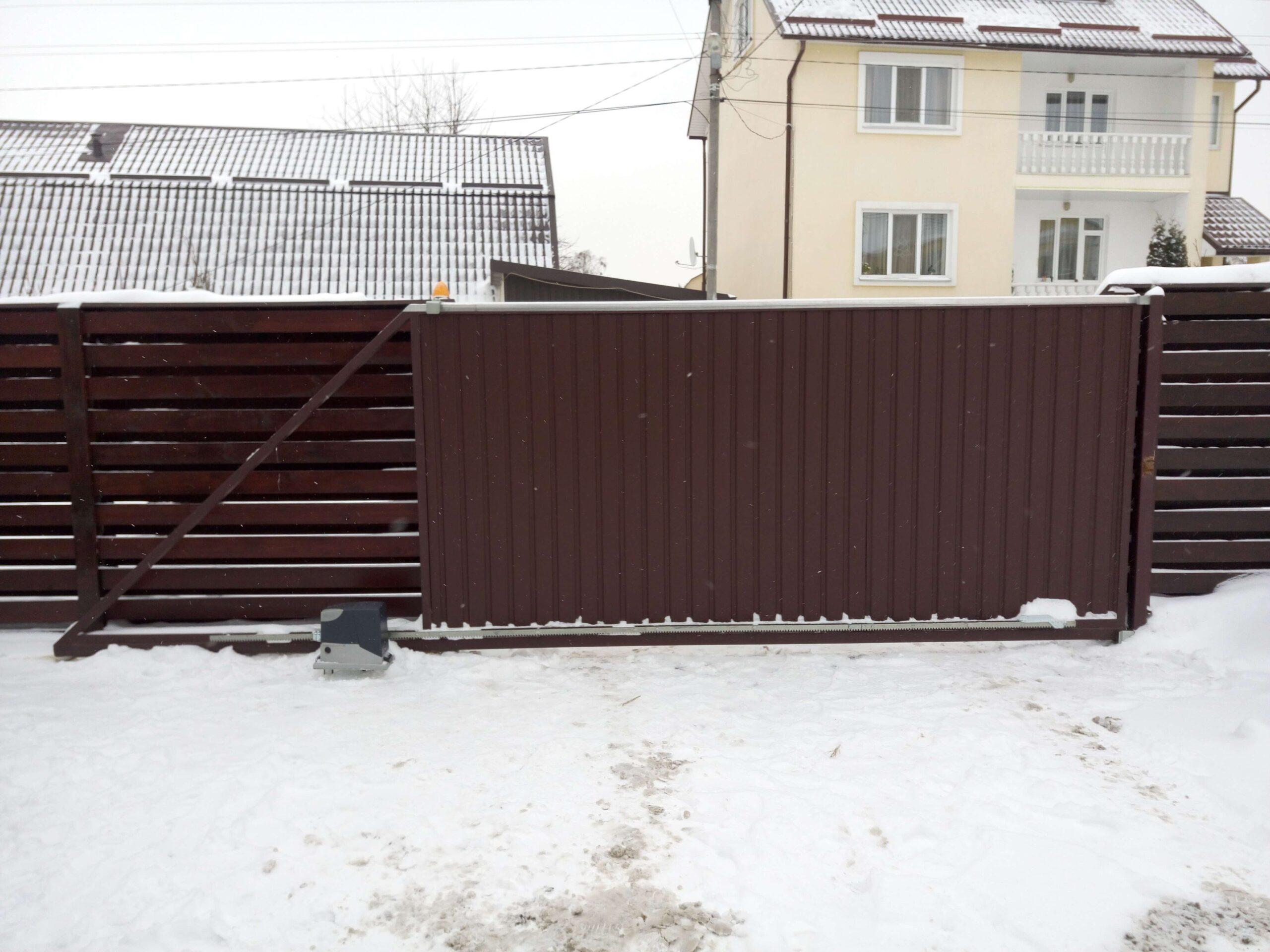 Откатные ворота проект 60