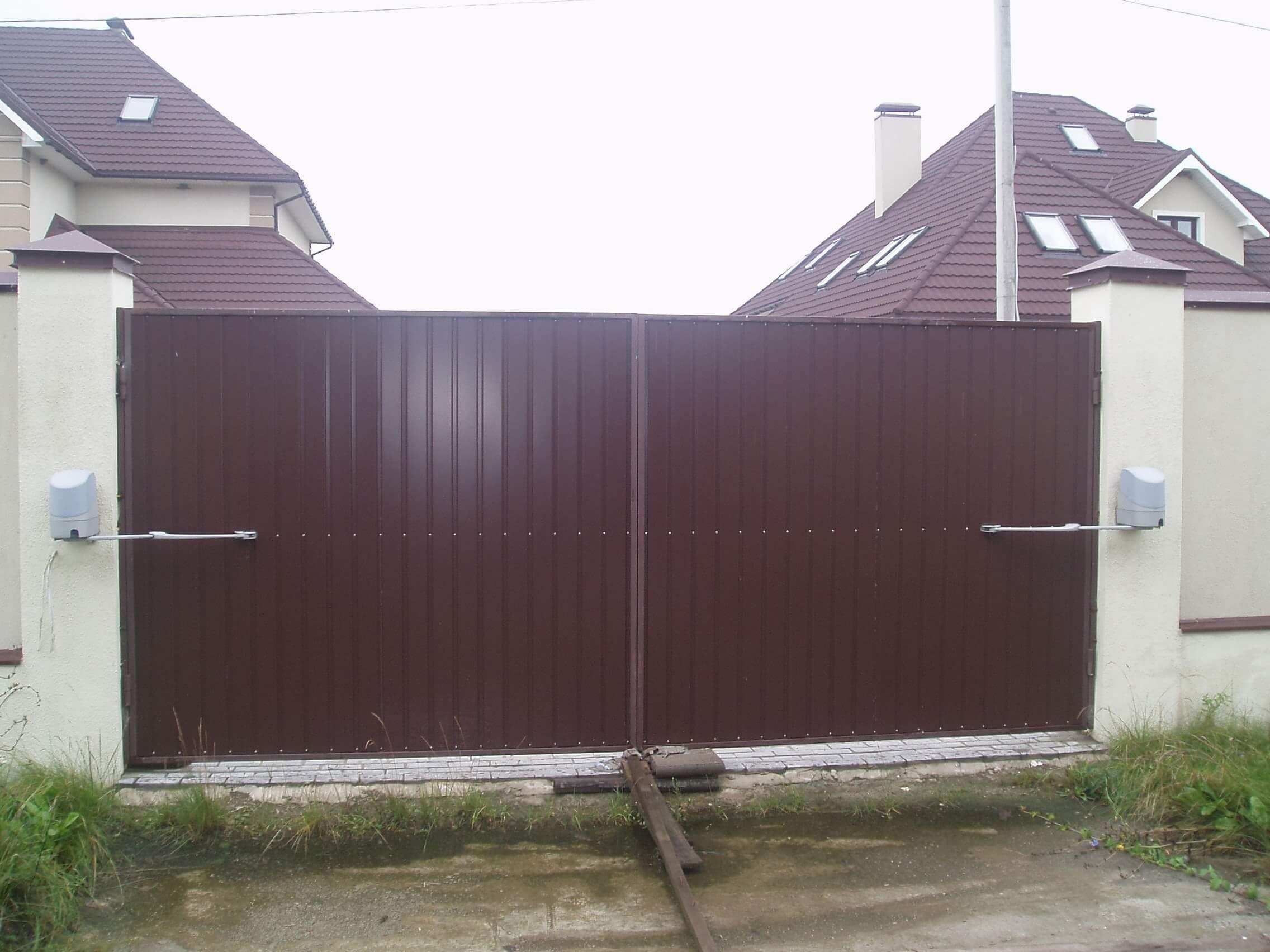 Распашные ворота проект 33