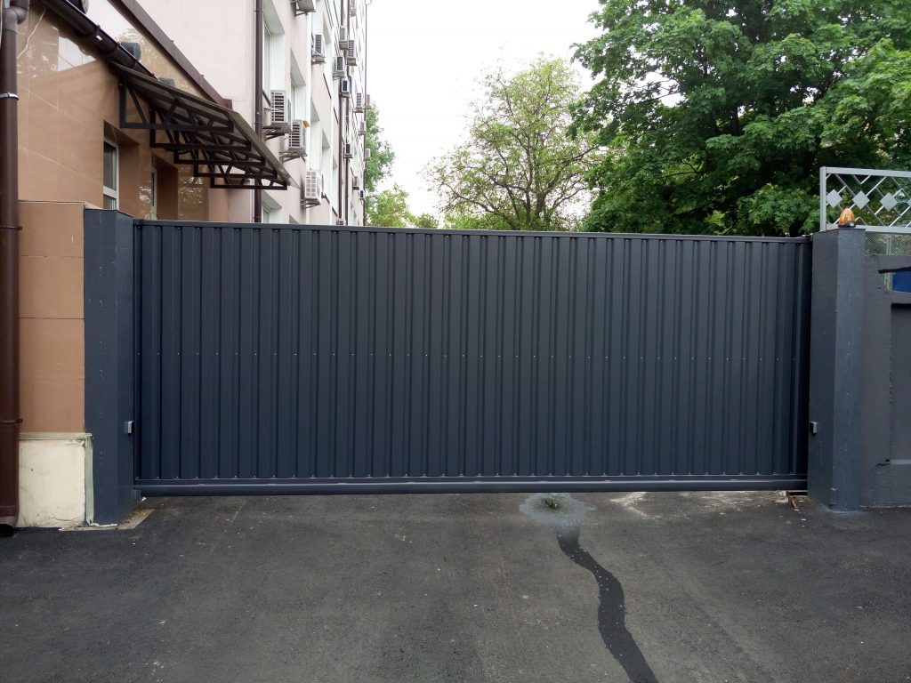 Откатные ворота проект 61
