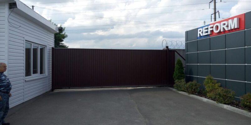 Откатные ворота проект 62
