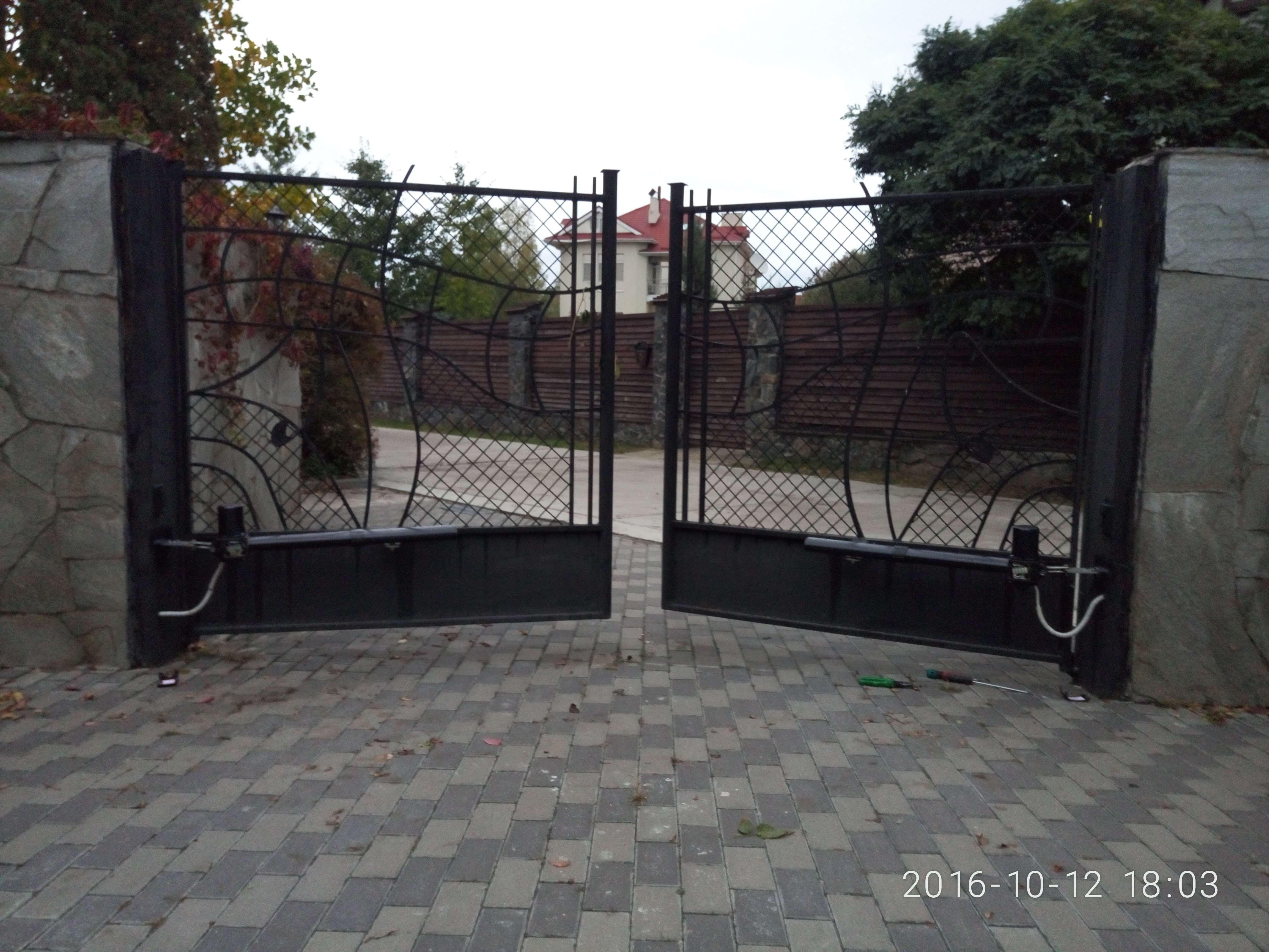 Автоматика для распашных ворот 22