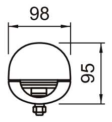 Габариты NICE WG3524HS