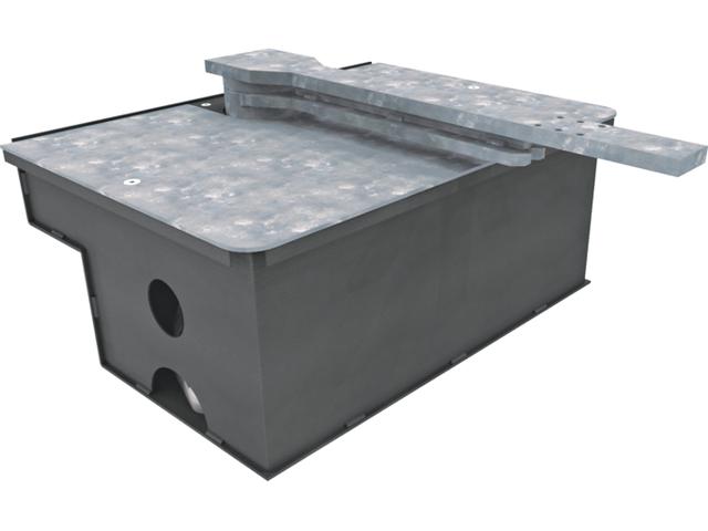 Стальная фундаментная коробка FROG-PC, обработанная катафорезом