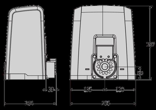 Габаритные размеры BFT DEIMOS AC A600