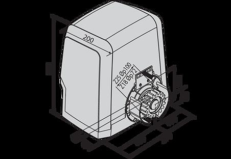 Габаритные размеры BFT ARES BT A1000