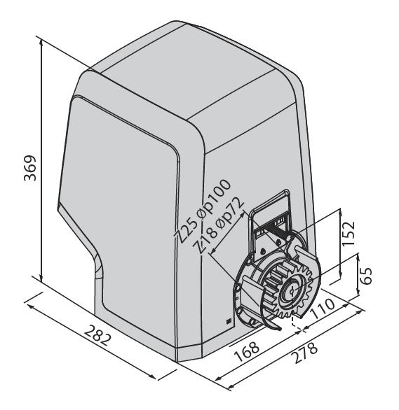 Габаритные размеры BFT ICARO SMART AC A2000