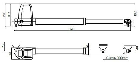 Габаритные размеры BFT ATHOS AC A25