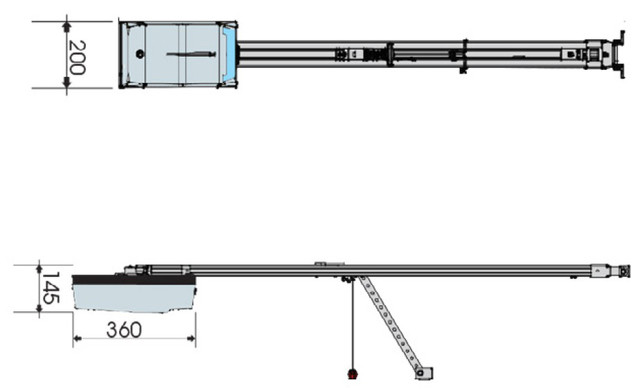 Габаритные размеры Faac D600
