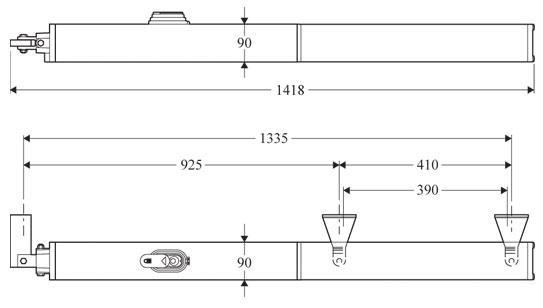 Габаритные размеры BFT PHOBOS AC A50