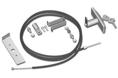 Roger RL-655 - внешняя разблокировка потолочного привода с ручкой